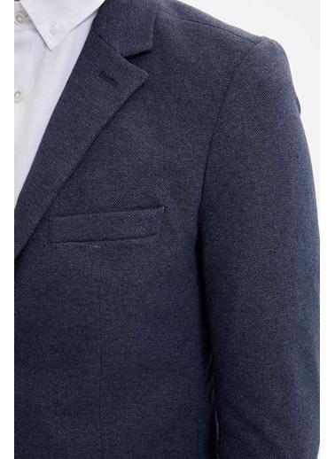 DeFacto Slim Fit Blazer Ceket Lacivert